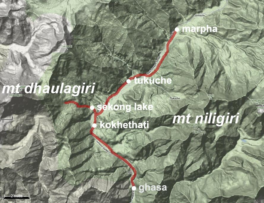 First Mustang Trek_detail map