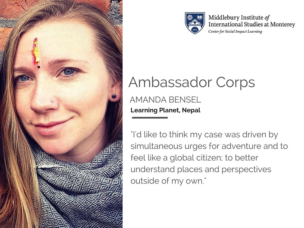 Amanda Bensel Ambassador Corps