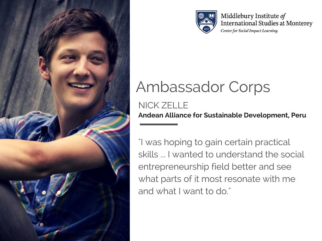 Nick Zelle Ambassador Corps