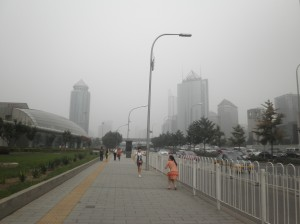 A lovely smoggy day in Beijing.