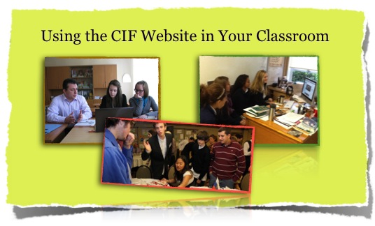using cif in classroom new