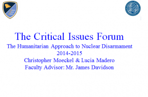 Critical Issues Forum - Choate