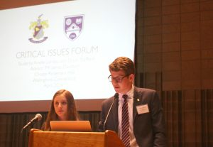 "Choate Rosemary Hall's students gave their presentation on ""Global Nuclear Vulnerability: Threats Seen and Unseen"""