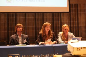 MIIS students studying nonproliferation issues share their experience with CIF high school students
