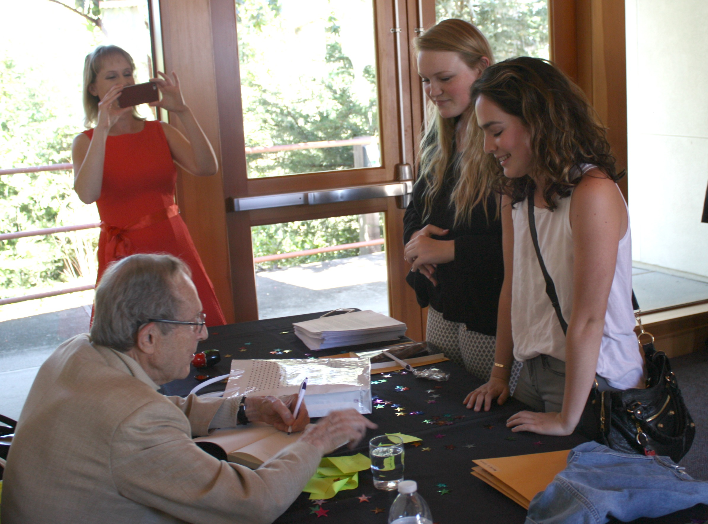 "Dr. Perry at book signing of his new memoir, ""My Journey at the Nuclear Brink"""