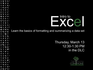 Intro to Excel Workshop!
