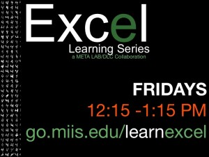 Excel Learning Series