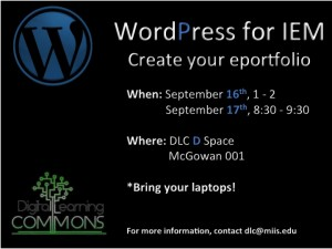 WordPress Workshop Digital Sign