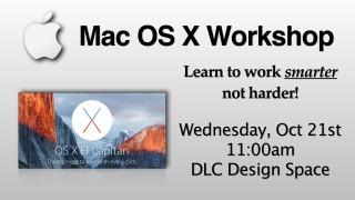 Max OS X Workshop