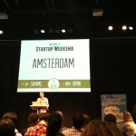 Don Ritzen, Co-Founder and Managing Director of Rockstart Accelerator, welcoming everyone to Startup Weekend Amsterdam.