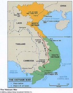 "North and South Vietnam Hi Chi Minh's trail Image from ""kellywalsh.org"""