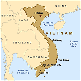 Map of Vietnam Image from cdc.gov