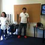 "The Korean ESL students show the guests how to dance ""Gangnam Style""!"
