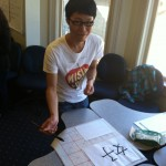 Our Chinese ESL students showed our guests how to write Chinese characters!