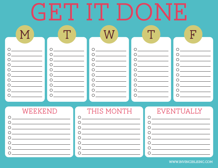 Sly image with cute printable to do list pdf