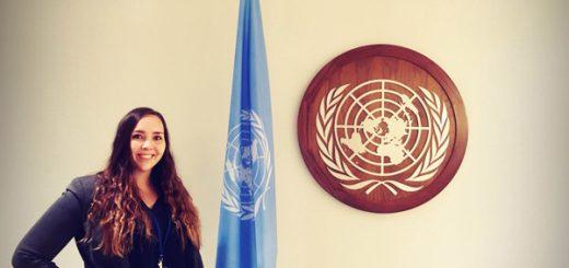 Elin Orre at the UN