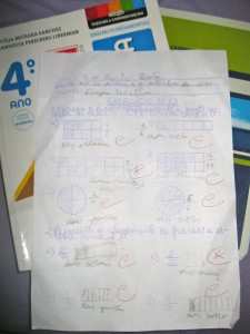 A perfect score- Dieguito received full marks on the first homework assignment he completed all by himself.