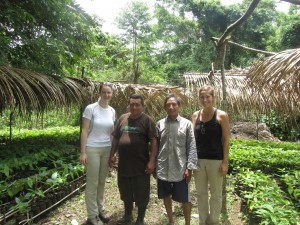 Kerri, Emiterio, and I with the farmer at his beautiful nursery