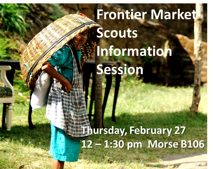 Frontier Market Scouts is now accepting applications for summer 2014!