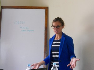 Ellen leading a strategy workshop in Uganda
