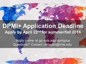 DPMI+ Application Deadline