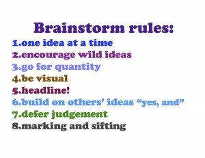 Brainstorm Rules