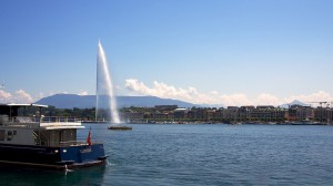 ジュネーブのレマン湖