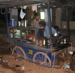 Food Stall with SELCO lamp