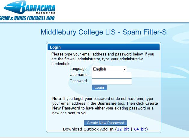 Barracuda Login Page