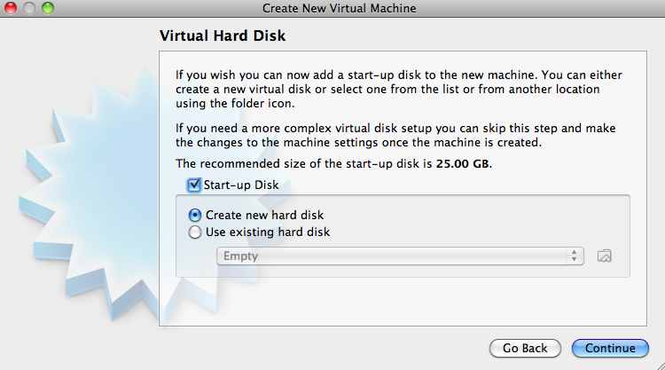 Select Startup Disk