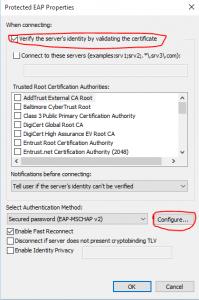 Wireless internet connection problems validating identity wireless network