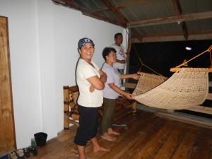 Setting up my hammock!