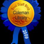 Best Staff Blog: Coleman Library