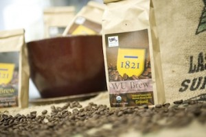 Una bolsa de café de WU Brew