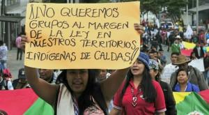 Manifestación contra la Violencia Narcotráfica