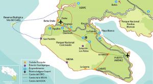 caminos mapa