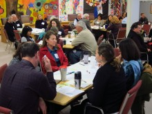 Sonja-A meeting of members from the Community Alliance for Safety and Peace in Salinas. Photo by Stacy Hughes