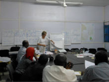 Field training in Eastern Sudan. Photo Credit: Leila Kherbiche, 2012.