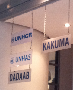 Available humanitarian destinations at Nairobi's Wilson airport. Photo credit: Barbara Moser-Mercer, 2012.