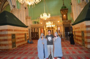 At the Ibrahimi Mosque in Hebron.