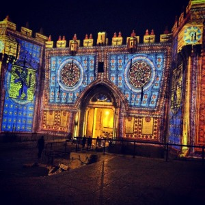 Here is Damascus Gate all lit up during the Festival of Lights. Isn't it beautiful?