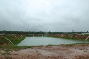 A JICA sponsored storage pond built by the NEPS