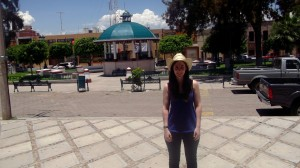 "With my ""ranchero"" hat in the ""plaza"" of Villa Guerrero (Jalisco)."