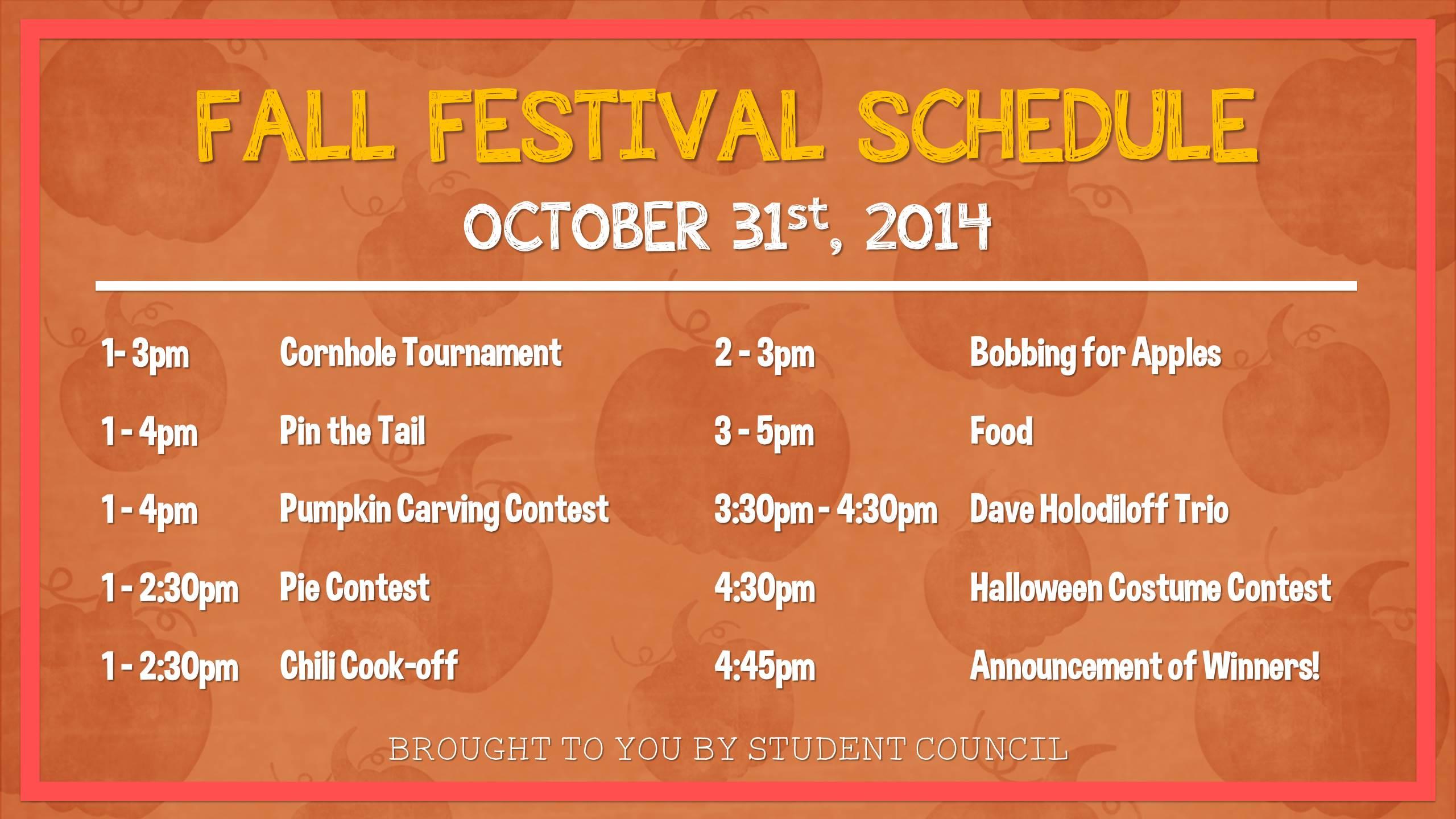 Fall Festival Schedule 2