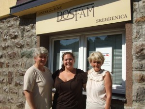 With two of the women who work in Srebrenica