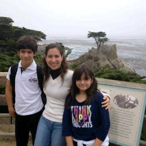 Beatriz Rodriguez and her children